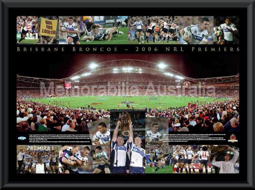 2006 Brisbane Broncos Premiership Sportsprint