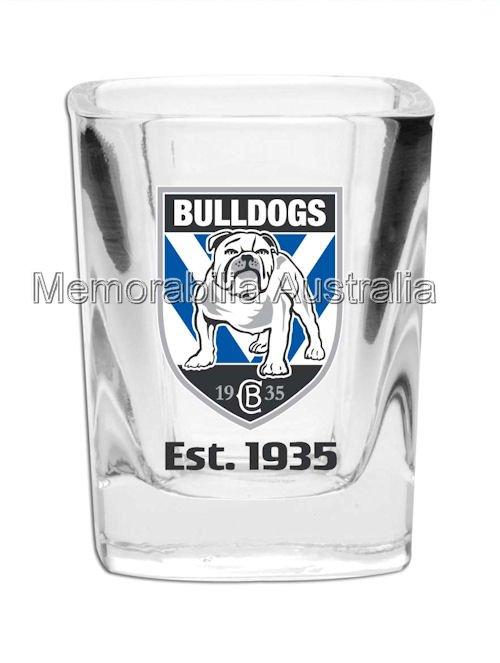 Canterbury Bulldogs Set Of 2 Shot Glasses