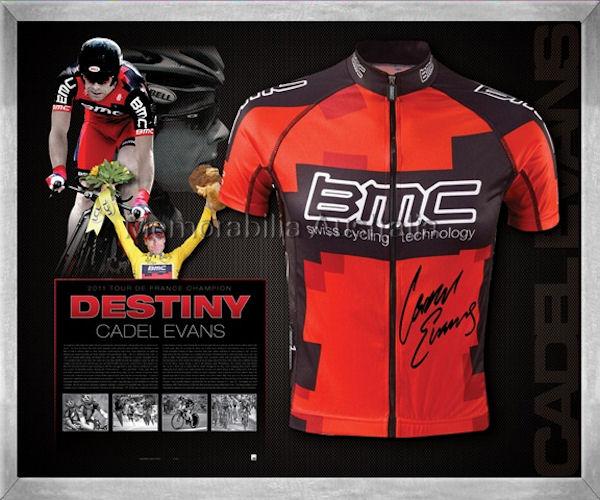 Cadel Evans 2011 Tour BMC Jersey Signed
