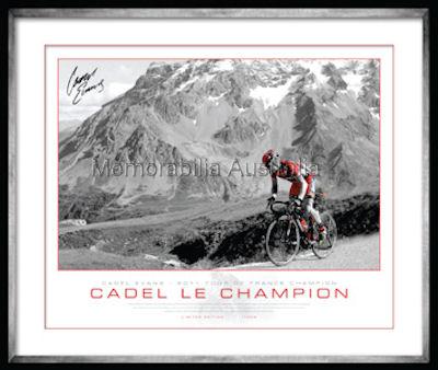 Cadel Evans 2011 Alps Print Framed