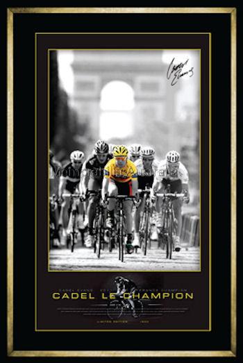 Cadel Evans Le Champion 2011 Print Framed