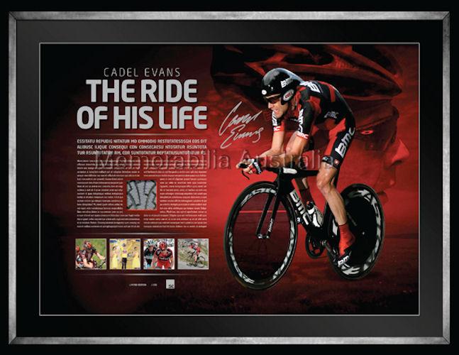Cadel Evans 2011 Tour Lithograph Signed