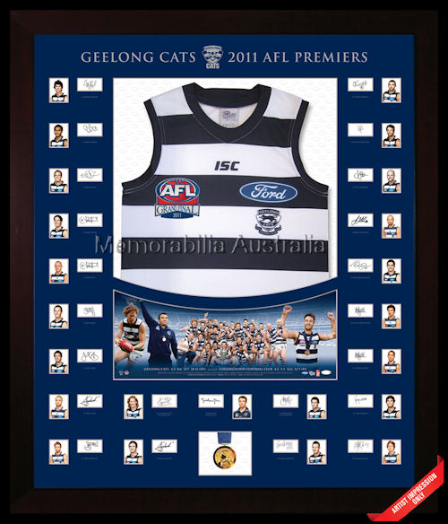 2011 AFL Premiership Premium Signed Jumper