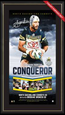 North Queensland Cowboys 2015 Signed Vertiramic