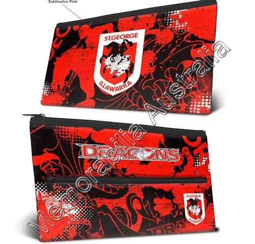 St George Illawarra Dragons Neoprene Pencil Case