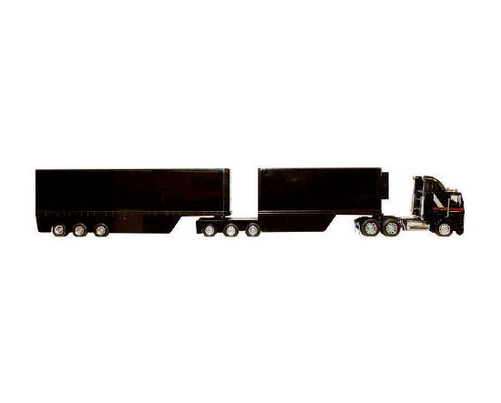 1:32 Freigtliner Black B-Double Cabover Truck