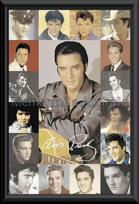 Elvis Portraits Poster Framed