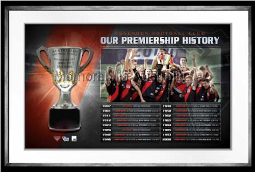 Bombers Premiership History Framed