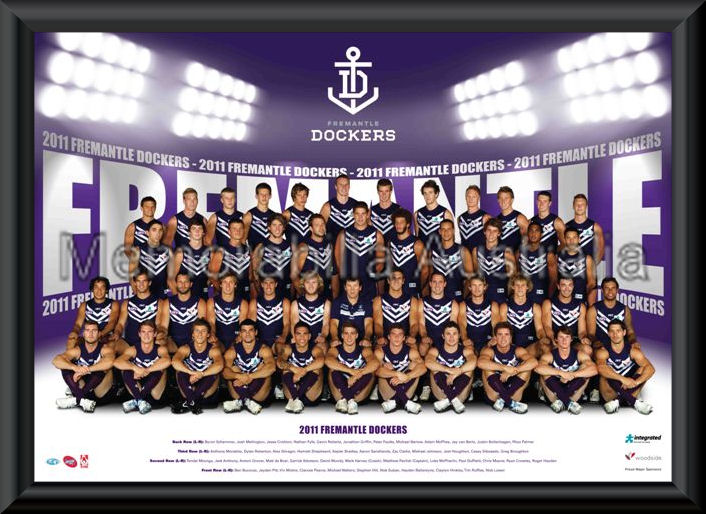 Fremantle 2011 Team Poster Framed