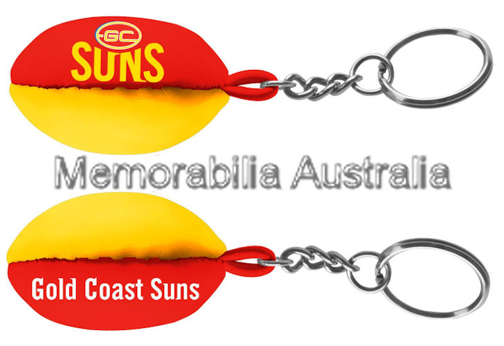 Gold Coast Suns Footy Key Ring