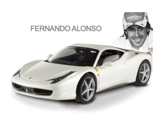 1:18 Elite Celebrities Ferrari 458 Italia