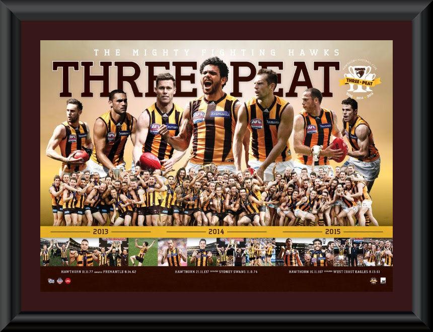 Hawthorn 2015 Premiership framed montage
