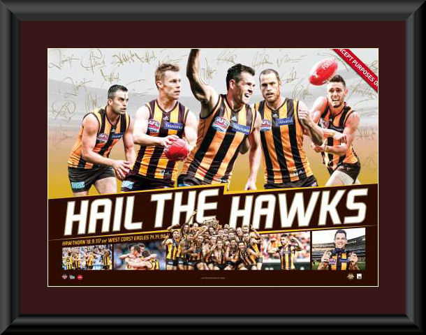 Hawthorn 2015 Premiership matted and framed sportsprint