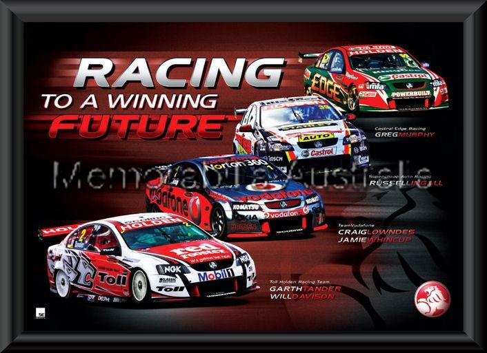 Holden Racing 2010 Print Framed