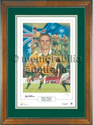 'The Kick That Won The Cup' Painting - Stephen Larkham
