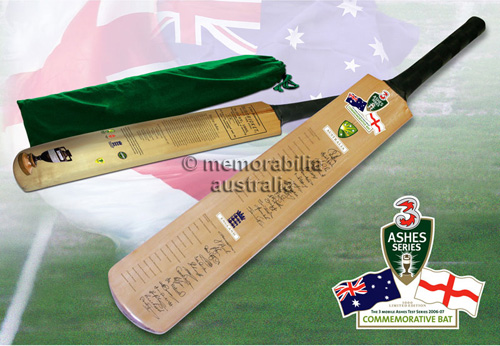 The Ashes - Australia & England Commemorative Bat