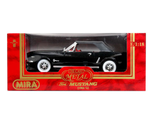 1:18  1964  1/2 Ford Mustang Soft Top - Black