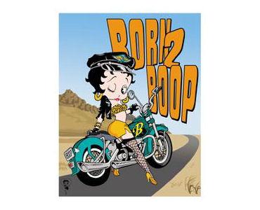 Betty Boop Born To Boop Tin Sign