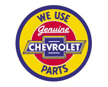 Chevy Genuine Parts Tin Sign