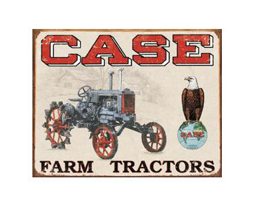 Case Farm Tractors Tin Sign