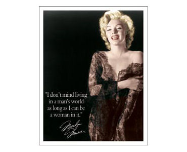 Marilyn Monroe Man's World Tin Sign