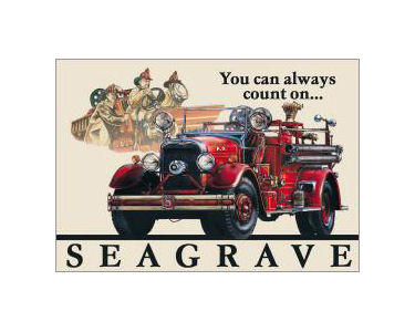 Seagrave Fire Engine Tin Sign