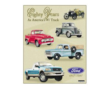 Ford Pickup Tribute Tin Sign