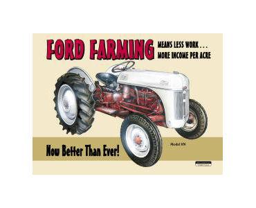 Ford Farming 8N Tin Sign
