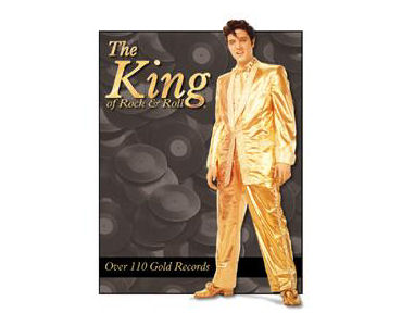 Elvis Gold Suit Tin Sign