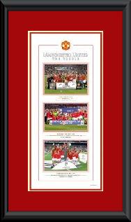 Manchester United Treble framed