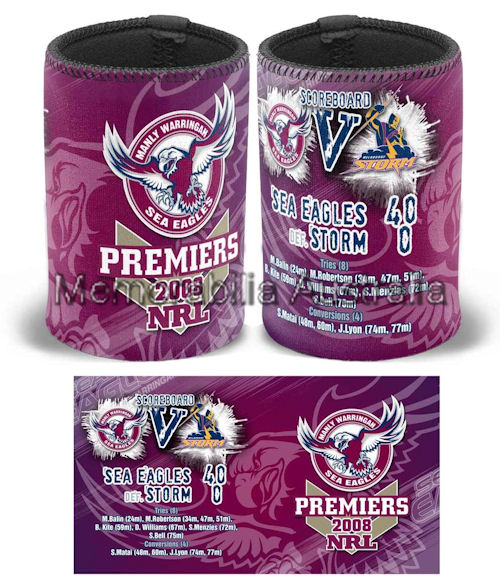 Manly 2008 Premiers Can Cooler