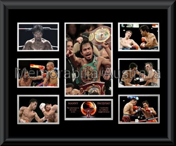 Manny Pacquiao Photo Montage Framed