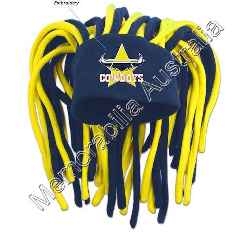 North Queensland Cowboys NRL Dreadlock Fun Hat