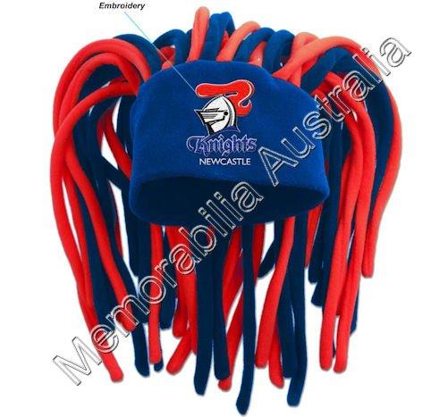 Newcastle Knights NRL Dreadlock Fun Hat
