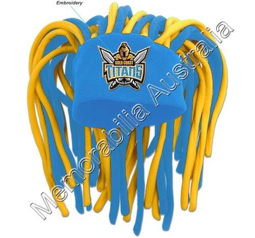 Gold Coast Titans NRL Dreadlock Fun Hat