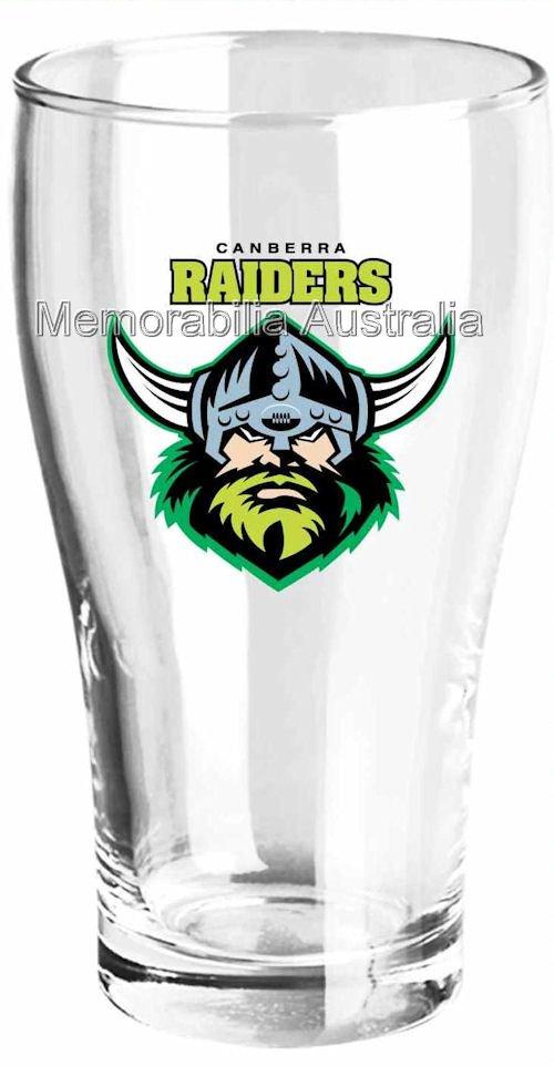 Canberra Raiders Set Of 2 Schooner Glasses