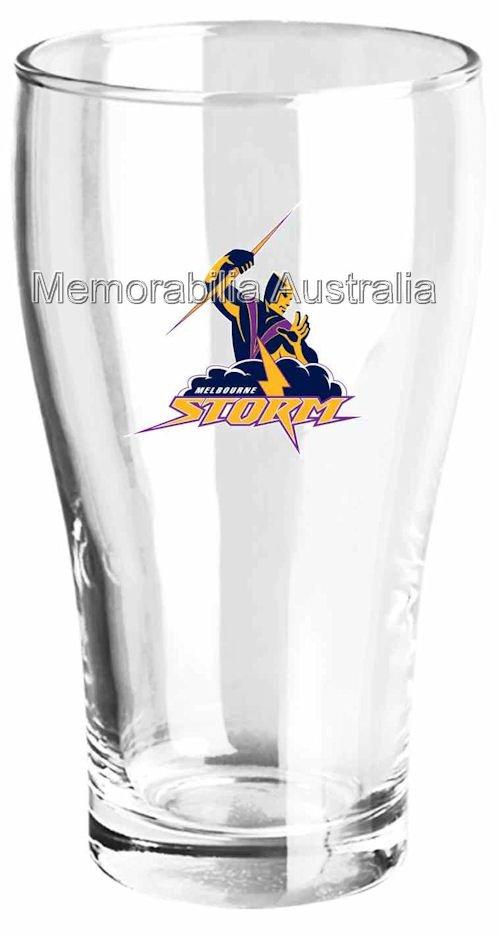 Melbourne Storm Set Of 2 Schooner Glasses