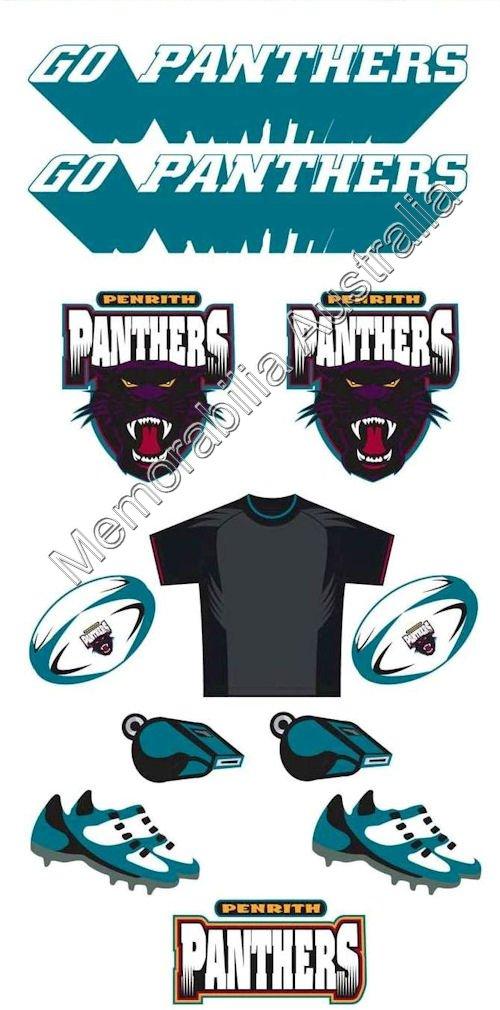 Penrith Panthers NRL Tattoo Sheet