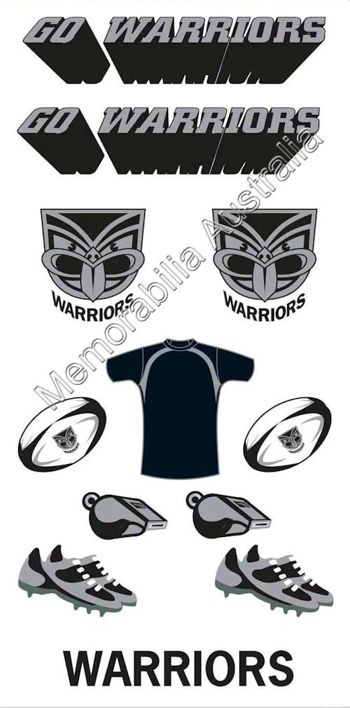 New Zealand Warriors  NRL Tattoo Sheet