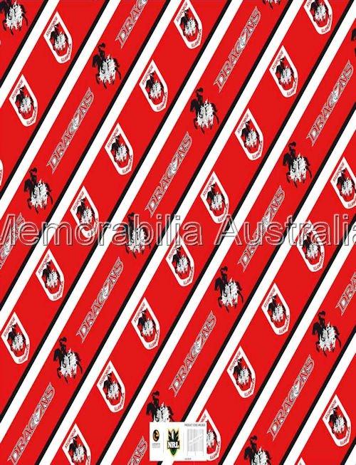 St George Illawarra Dragons NRL Gift Wrap
