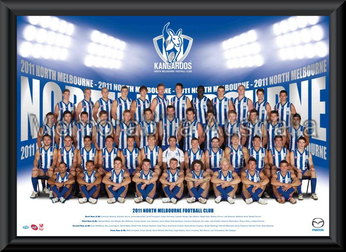 North Melbourne 2011 Team Poster Framed