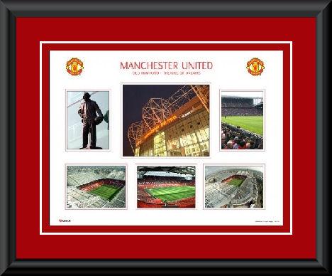 Manchester United Old Trafford montage framed
