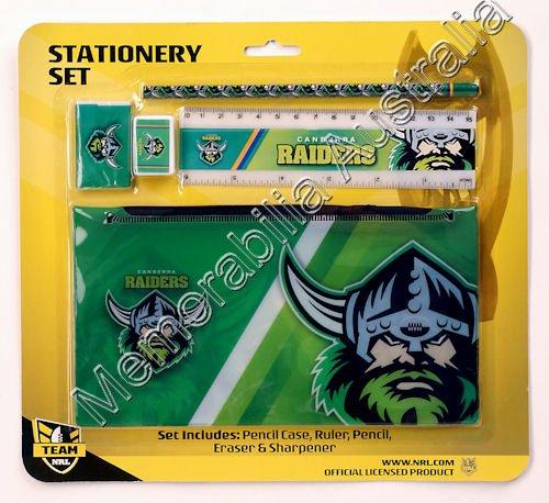 Canberra Raiders NRL Stationery Set