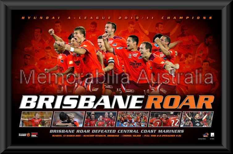 Brisbane Roar 2011 Premiers Print Framed