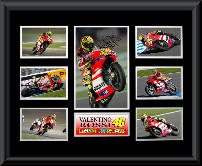 Valentino Rossi Montage Framed
