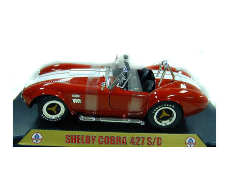 1:18 1965 Shelby 427 Cobra Red/White