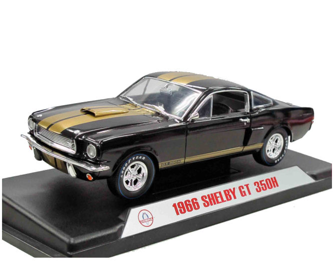 1:18  1966 Ford Shelby Mustang GT350H Black/Gold Stripe