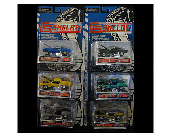 1:64  1967 Ford Shelby Mustang Assorted Pk 12
