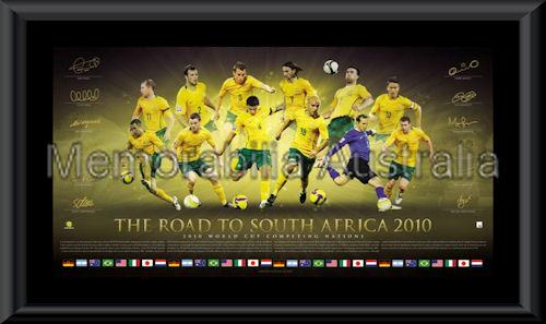 Socceroos LE World Cup 2010 Framed