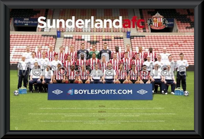 Sunderland 09/10 Team Framed